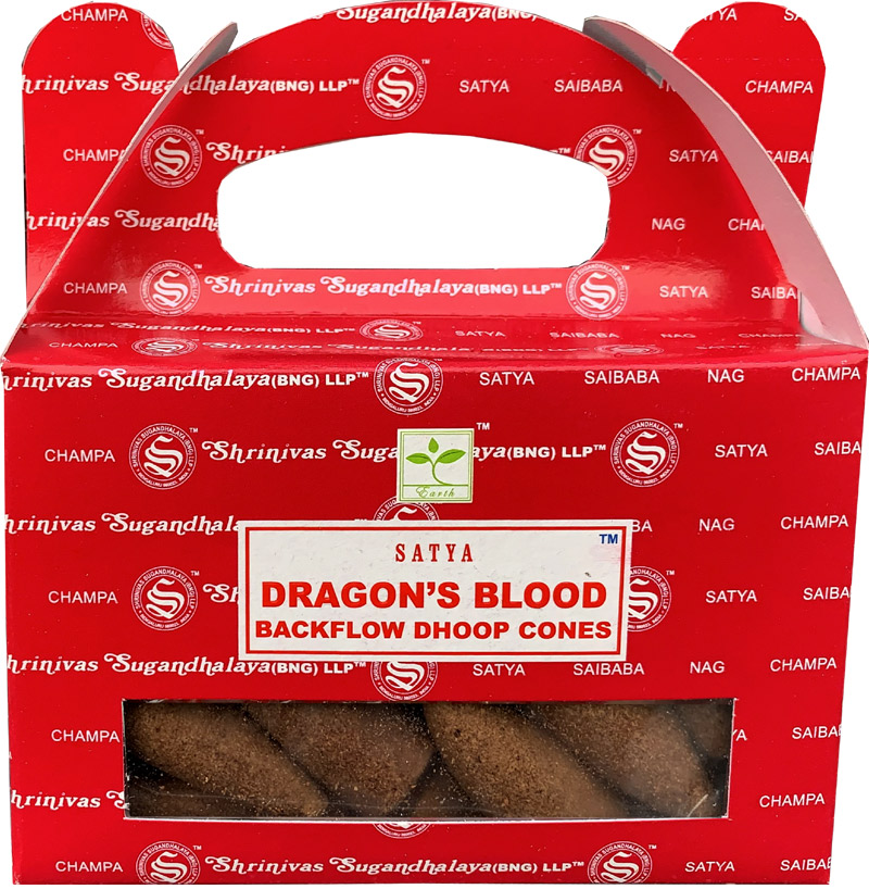 Backflow Cones Satya Dragon's Blood set of 6