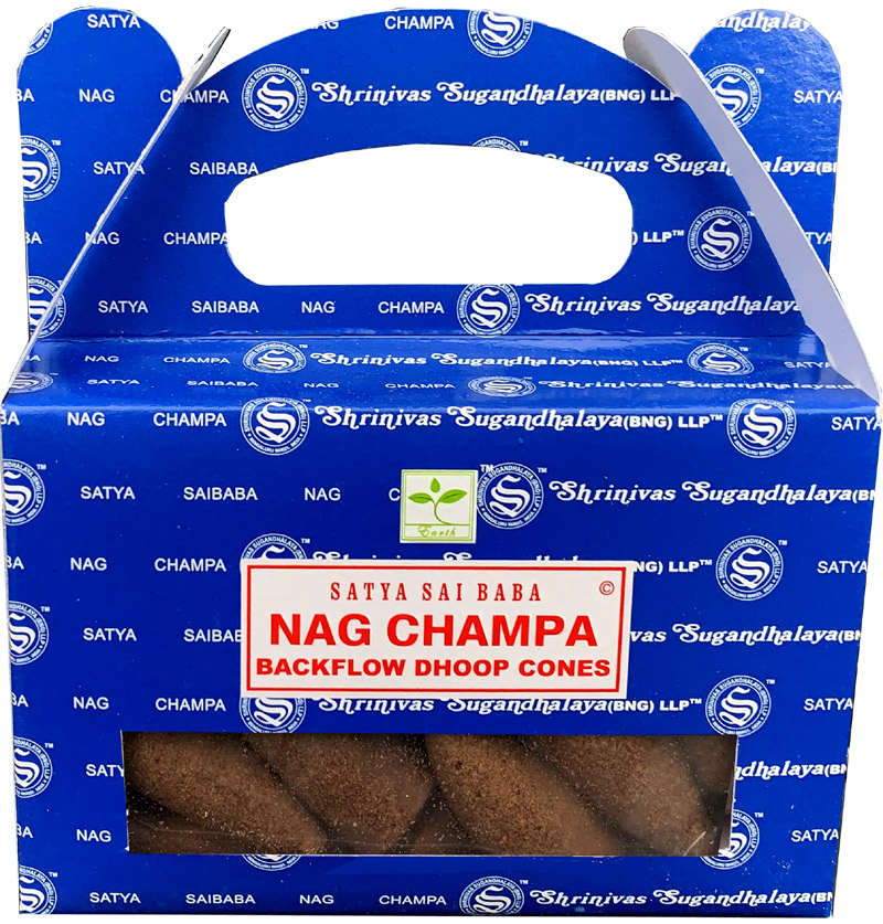 Backflow Cones Satya Nag Champa set of 6