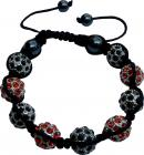 Shamballa 9 orange & black stones