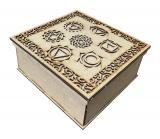 Scatola in legno cesellato 7 Chakras