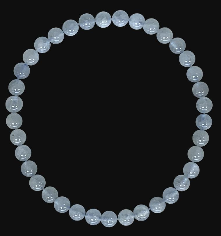 Bracelet Aigue Marine A perles 4mm