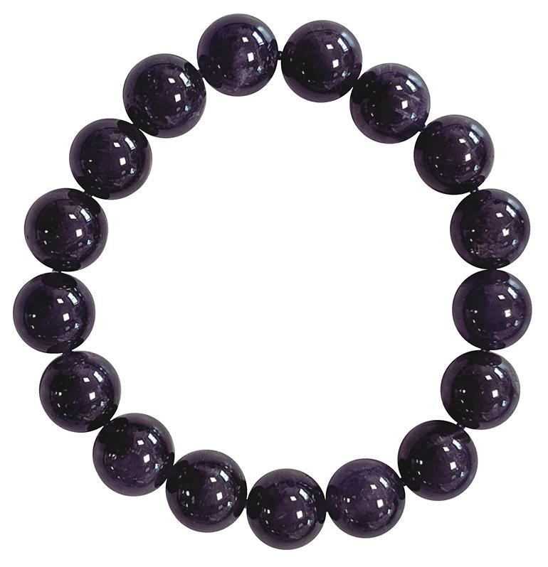 Bracciale Ametista A perle 12mm