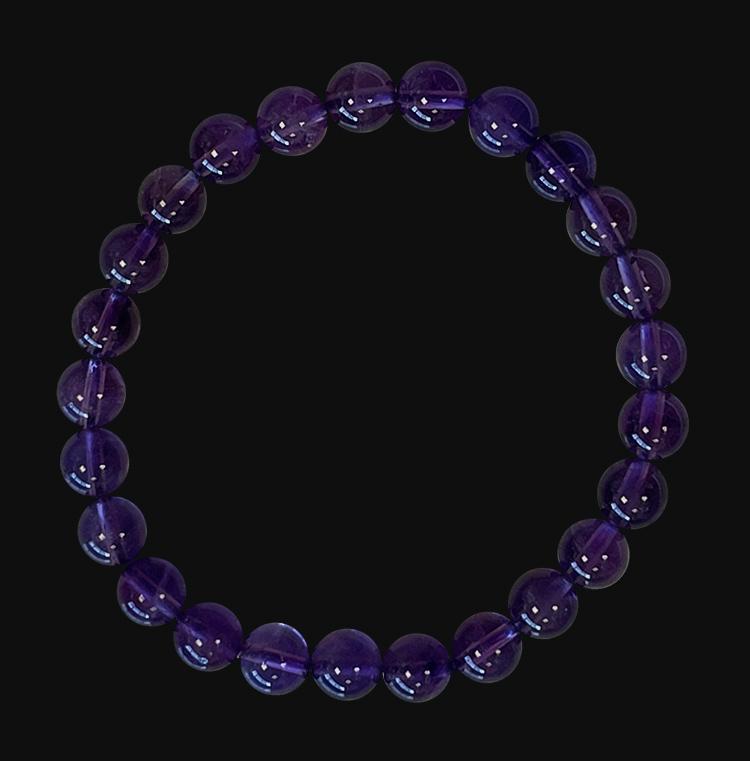 Amethyst AA 6mm pearls bracelet