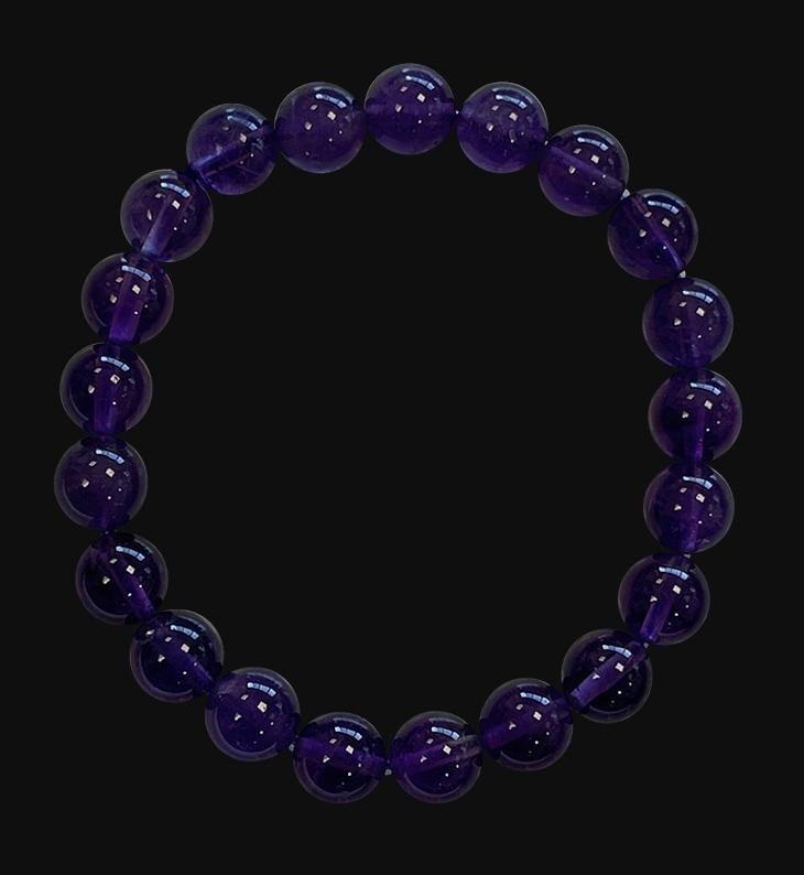 Bracelet Amethyste AA perles 8mm