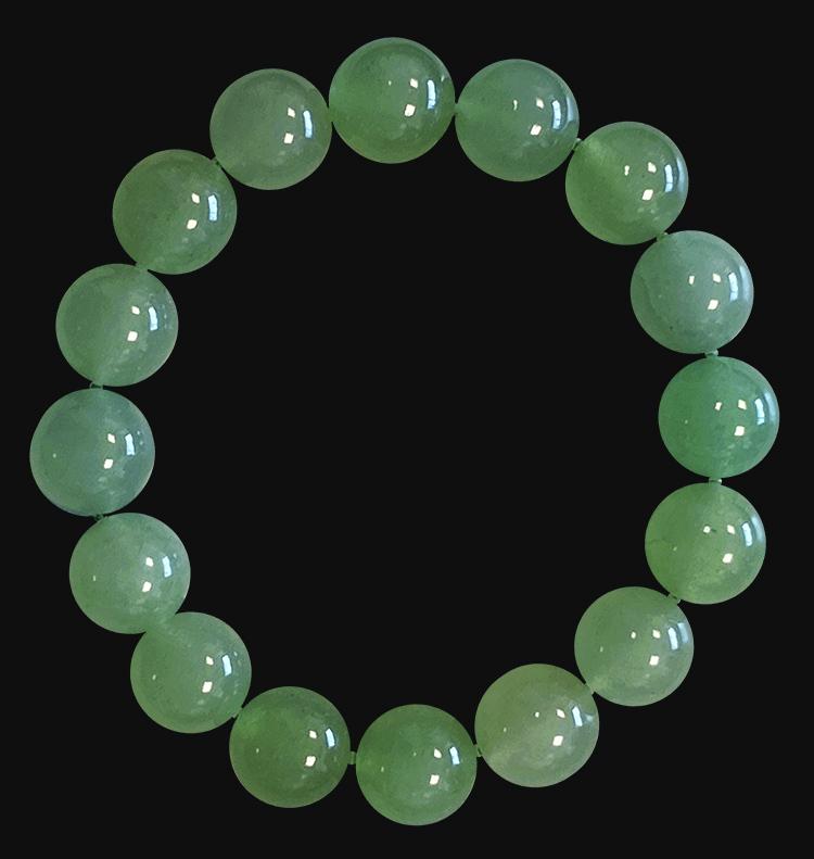 12mm pearls Green Aventurine bracelet