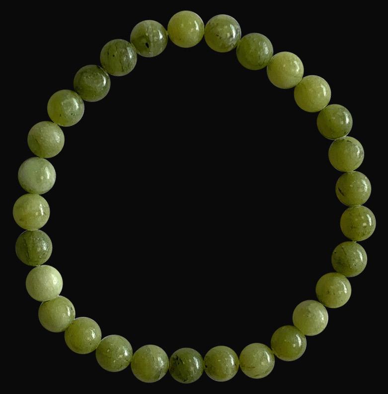 Bracelet Jade Nephrite A perles 6mm
