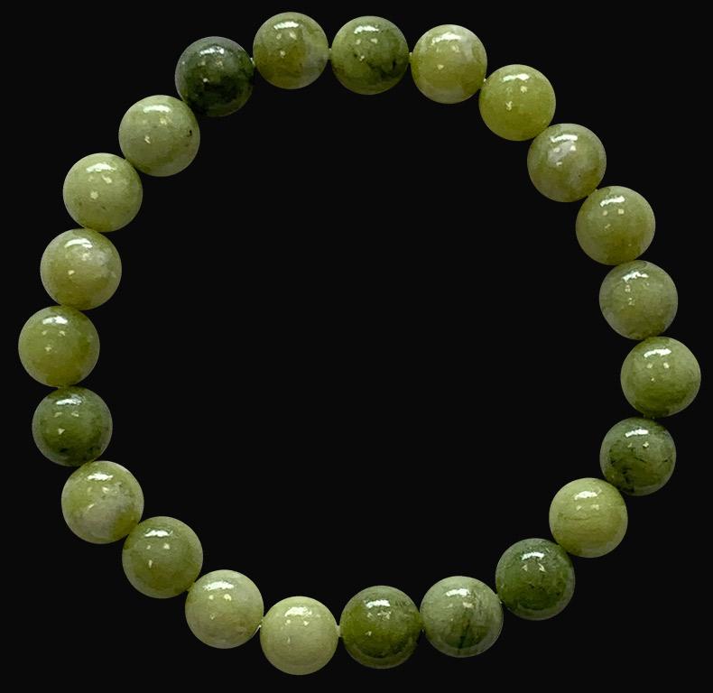 Bracelet Jade Nephrite A perles 8mm