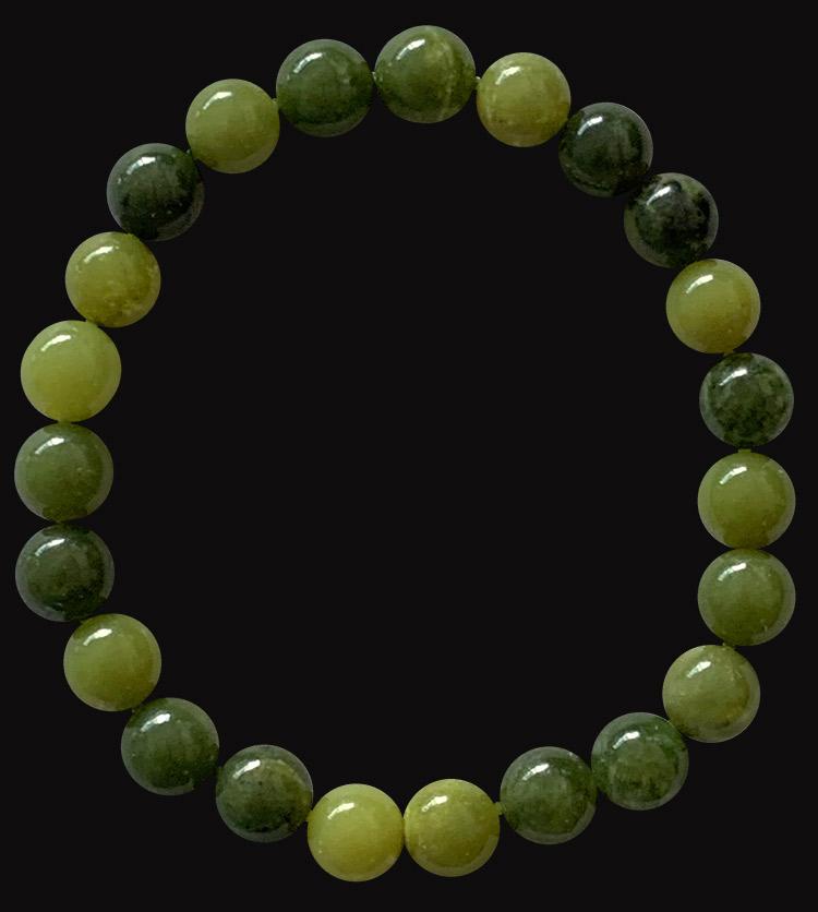 Bracelet Jade Nephrite perles 8mm