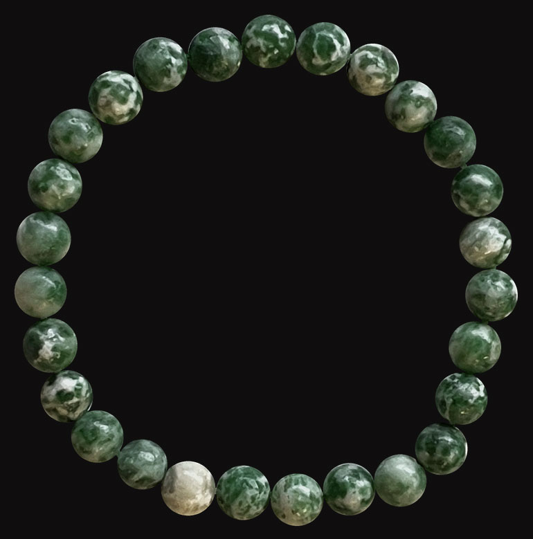 Green jade 6mm pearls bracelet