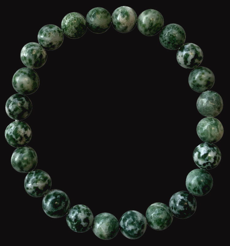 8mm pearls green jade bracelet