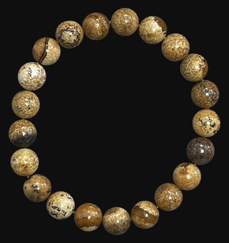 Landscape Jasper 8mm pearls bracelet