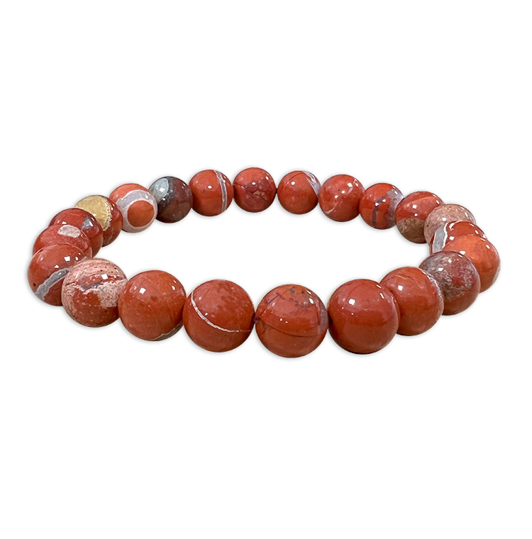 8mm pearls Red Jasper bracelet