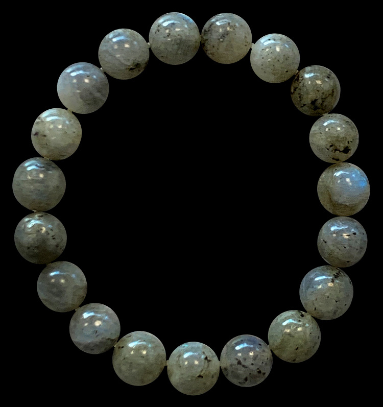 Bracelet Labradorite perles 10mm