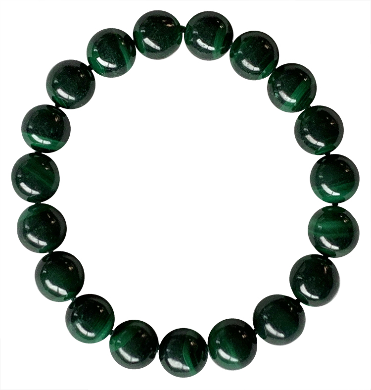Malachite A 10mm pearls bracelet