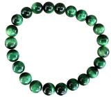 Green tinted Tiger Eye 8mm pearls bracelacet