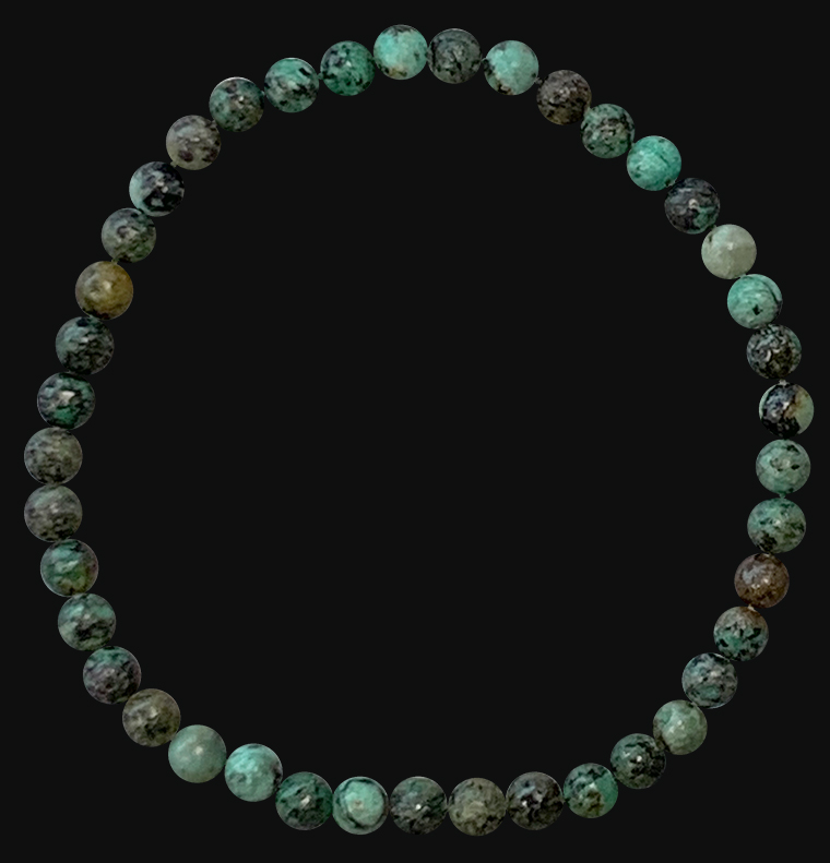 Natural African turquoise 4mm pearls bracelet