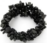 Baroque black onyx bracelet