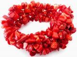 Bracelet baroque corail rouge