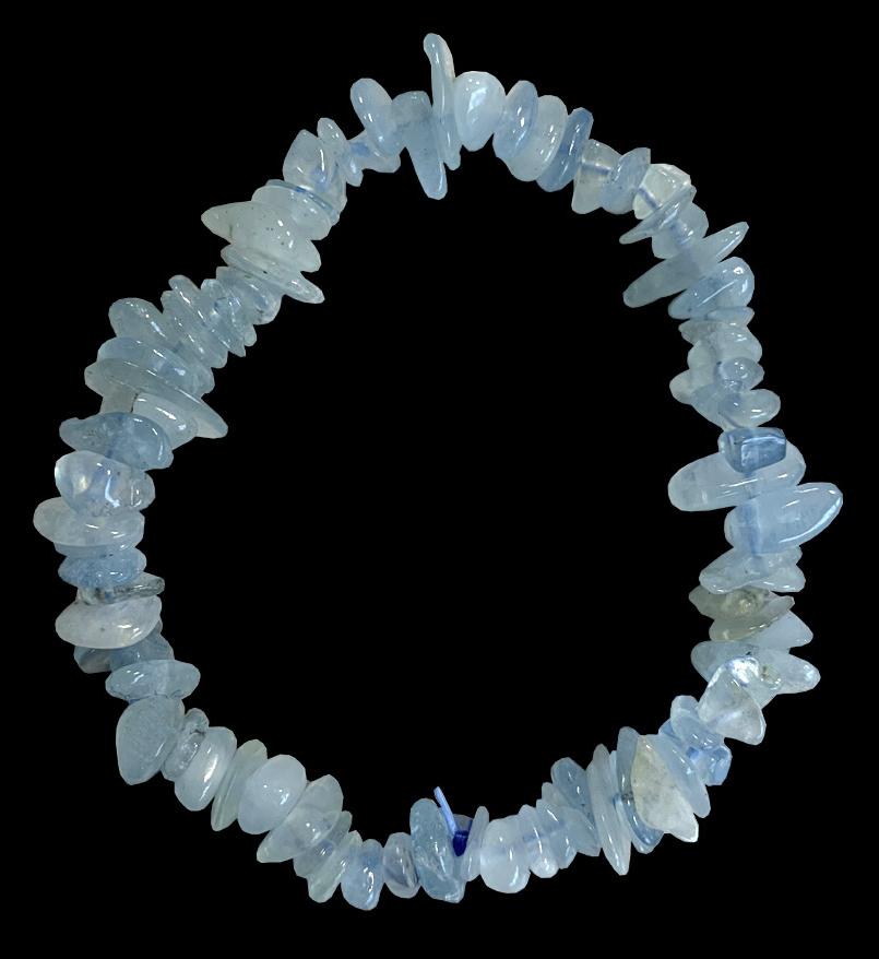 Bracelet Aigue-Marine AB chips 18cm