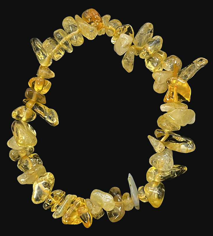 Heated Citrine chips bracelet 18cm