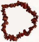 Red Jasper chips bracelet 18cm