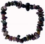 Tourmaline multicolor A chips bracelet 18cm