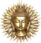 Bouddha soleil mural en bronze 18.5cm