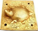 Tortue feng shui sur socle en bronze 12.5cm