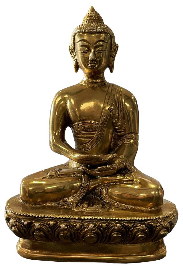 Buddha meditazione in ottone 19cm