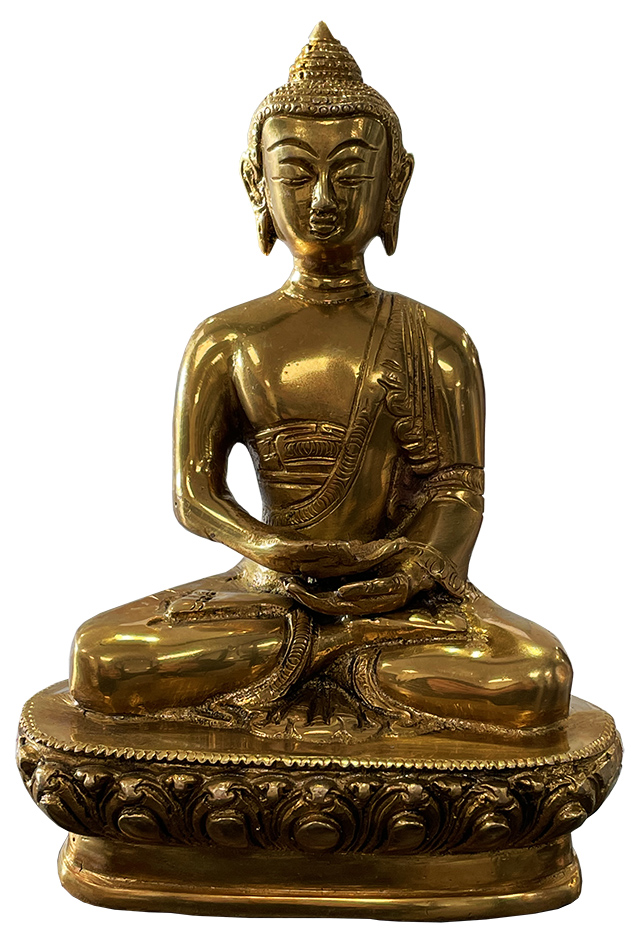 Bouddha méditation bronze 19cm