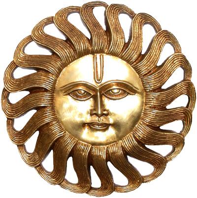 Sole rotondo in ottone 25cm