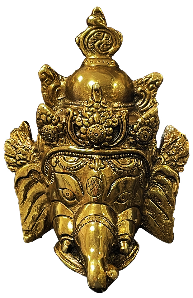 Testa di Ganesh in Ottone 14cm