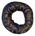 Cuscino rotondo azzurro per campana cantante 13cm