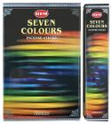 Busta con sette colori a forma di incenso