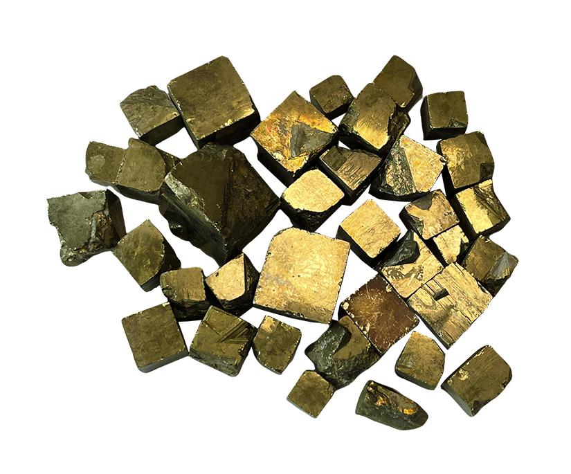 'AAA' Pyrite cubes 250g