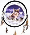 Dreamcatcher wolf group 40cm