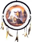 Eagle and Indian boy dream catcher 40cm