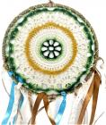 Dream catcher tissu brodé couleur 20cm