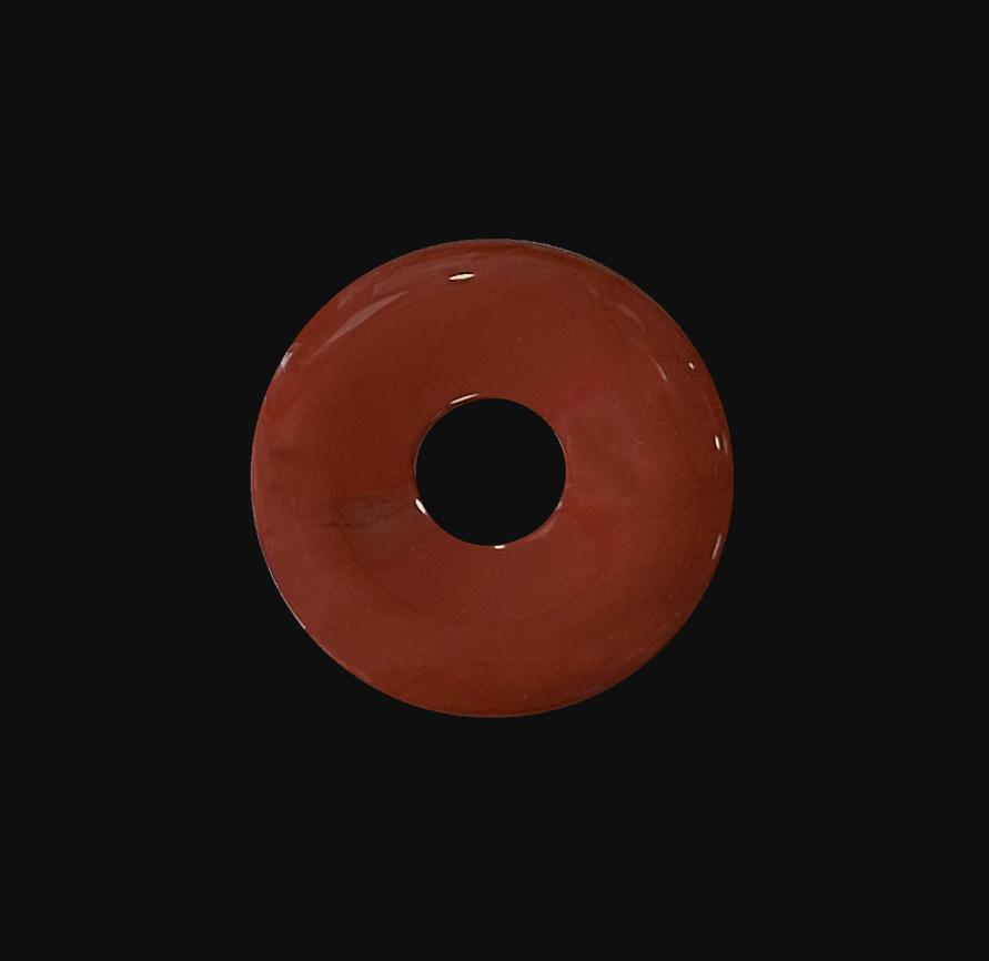 Red jasper donut 3cm