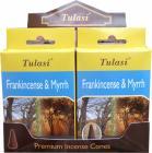 Encens tulasi sarathi cones frankincense & myrhhe