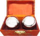 Silver massage balls 4.5cm