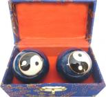 Blue ying yang massage balls 4.5cm
