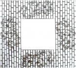 Miroir Gecko Mosaique Carré 40cm