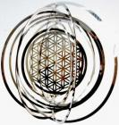 Cosmos Stainless mobile flower of life 15cm