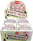 Hem incense white musk cones