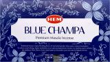 Encens Hem Nag Champa Bleu Masala 12 Bts