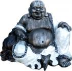 Chineese buddha resin & shell 49cm