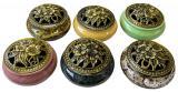 Ceramic incense holder mix colors 10cm x6