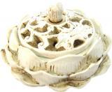 Porte encens cones Lotus blanc