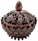Tibetan lotus incense resin burner copper 6cm